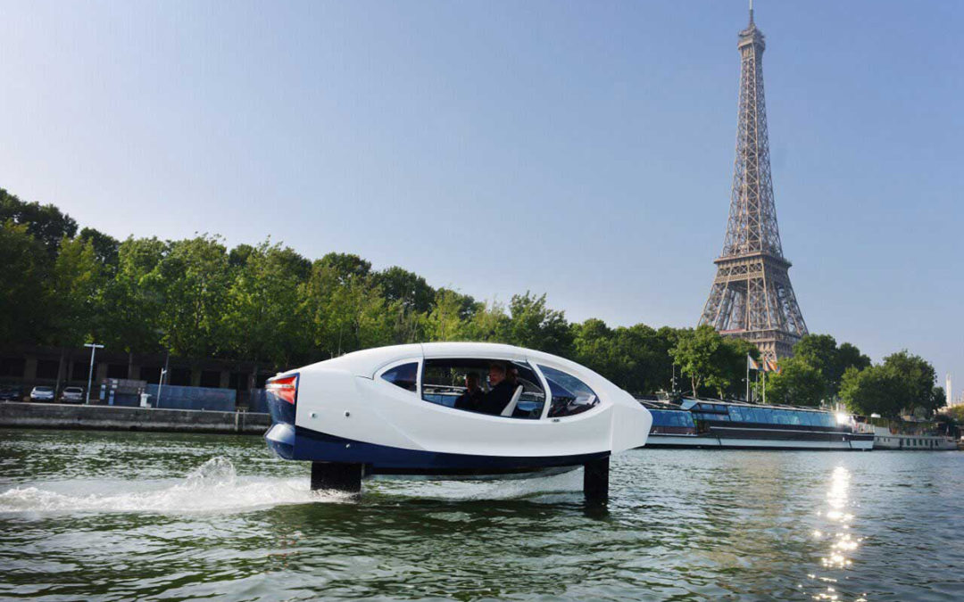 Hydroptère sur la Seine